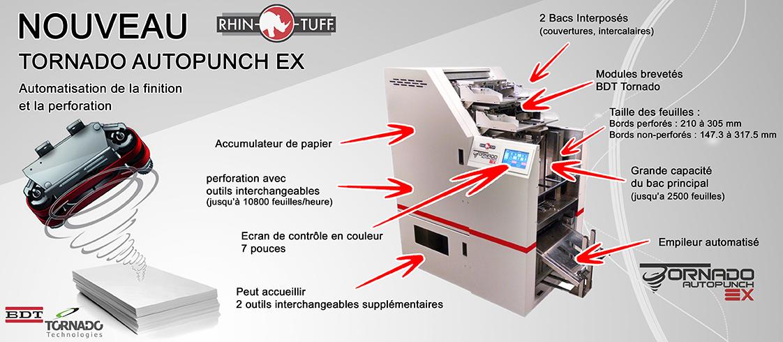 TORNADO AUTOPUNCH EX RHIN O TUFF perforeuse industrielle multifonction