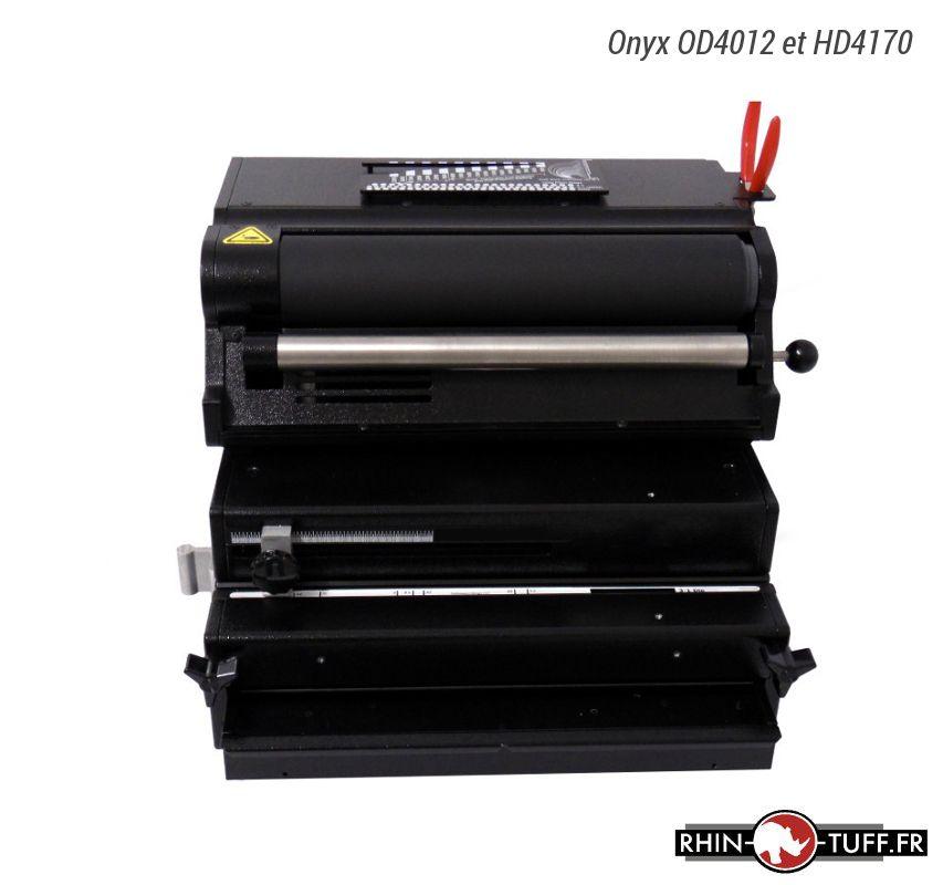 Relieuse électrique Onyx HD4170 avec le perforateur électrique Onyx OD4012