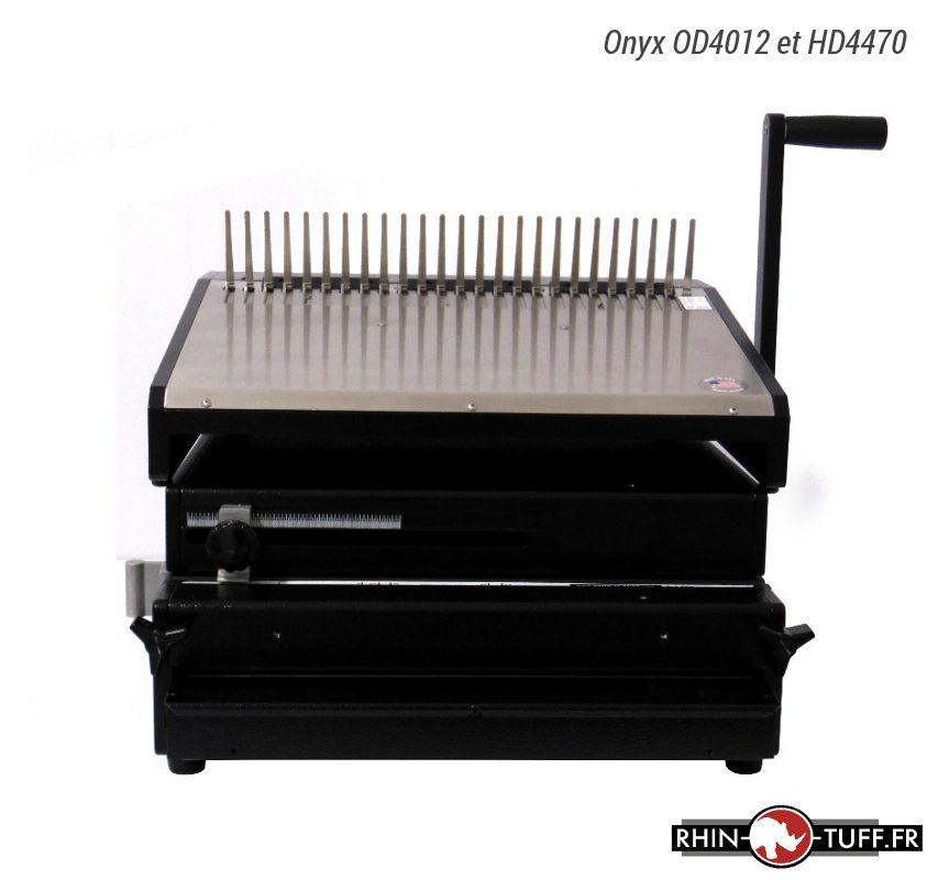 Relieuse manuelle Onyx HD4470 avec perforateur électrique Onyx OD4012