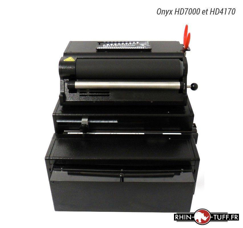 Perforateur électrique Onyx HD7000 avec relieuse Onyx HD4170 pour spirales coil