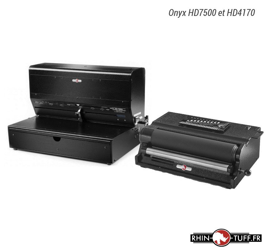 Perforateur électrique Onyx HD7500H avec relieuse électrique HD4170 pour spirales coil