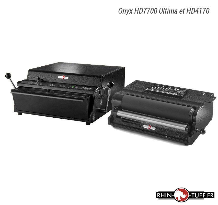 Perforateur électronique Onyx HD7700 Ultima et relieuse électrique HD4170 pour spirales coil