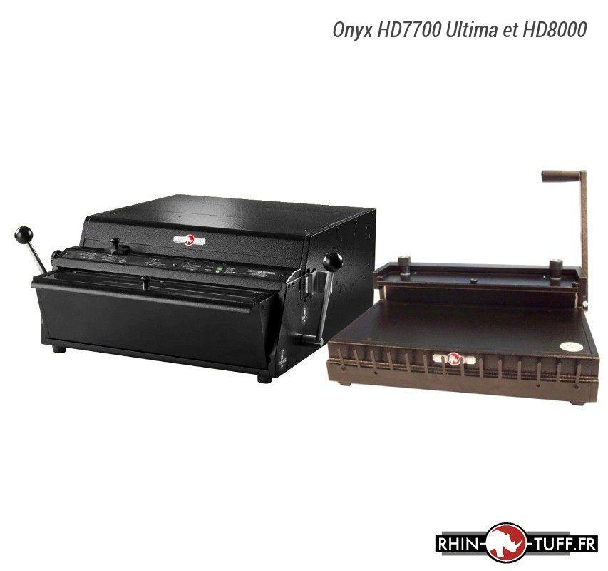 Perforateur électronique Onyx HD7700 Ultima et relieuse manuelle Onyx HD8000 pour anneaux métalliques