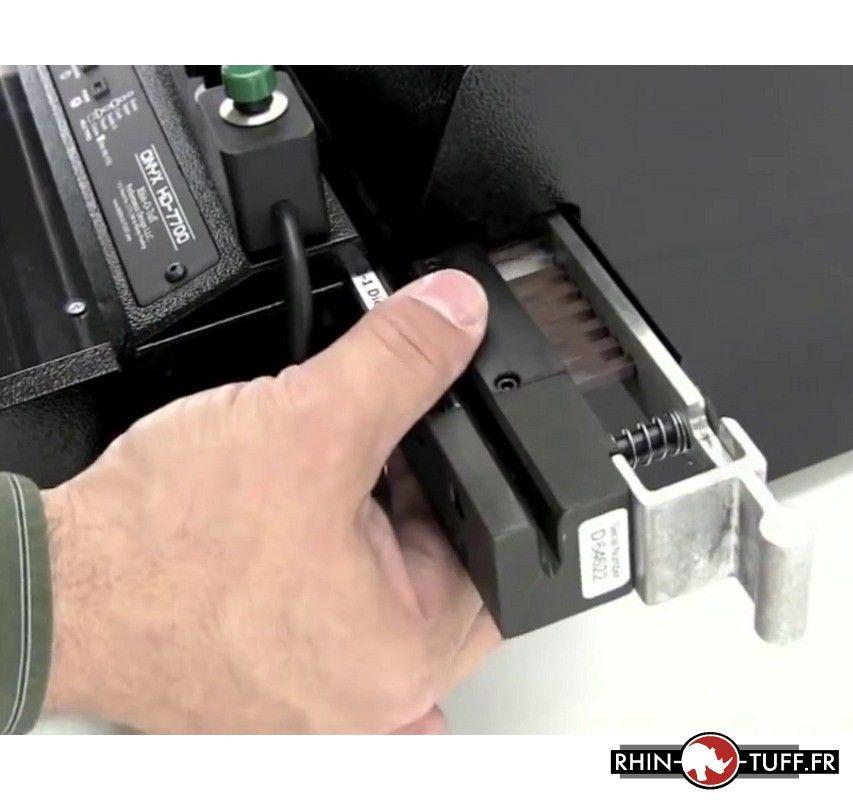 Perforateur électronique Onyx HD7700 Ultima - changement de l'outil de perforation
