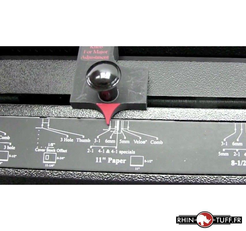 Perforateur électronique Onyx HD7700 Ultima - réglage de la perforation