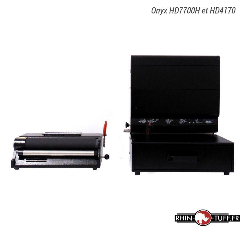 Perforateur électrique Onyx HD7700H et relieuse électrique Onyx HD4170 pour spirales coil
