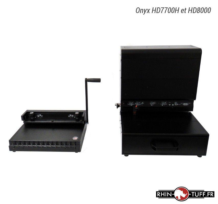 Relieuse Onyx HD8000 pour anneaux métalliques 2:1 et 3:1 avec perforateur HD7700H