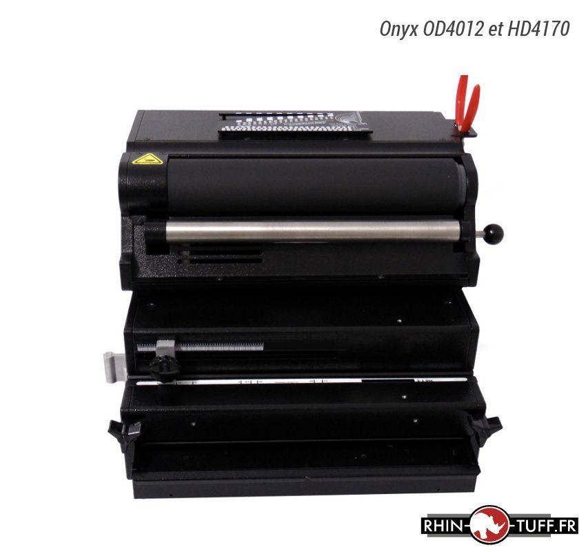 Perforateur électrique Onyx OD4012 avec relieuse Onyx HD4170 pour spirales coil