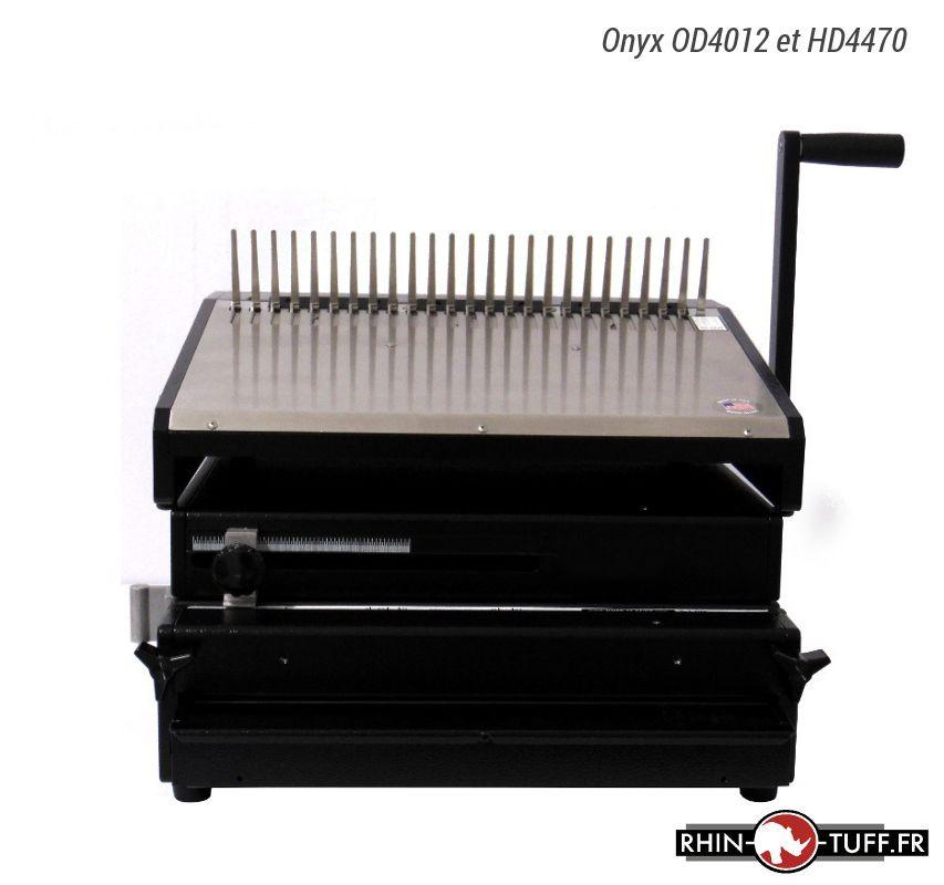 Perforateur électrique Onyx OD4012 avec relieuse Onyx HD4470 pour anneaux plastiques