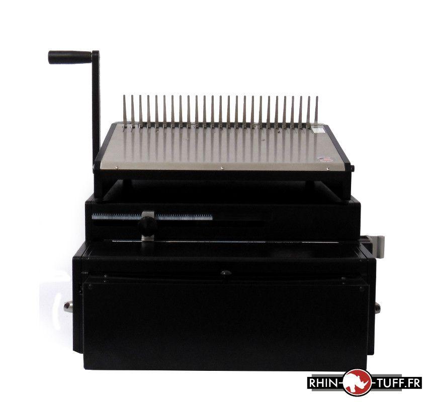 Perforateur électrique Onyx HD7000 et relieuse manuelle Onyx HD4470 pour anneaux plastiques - vue de face
