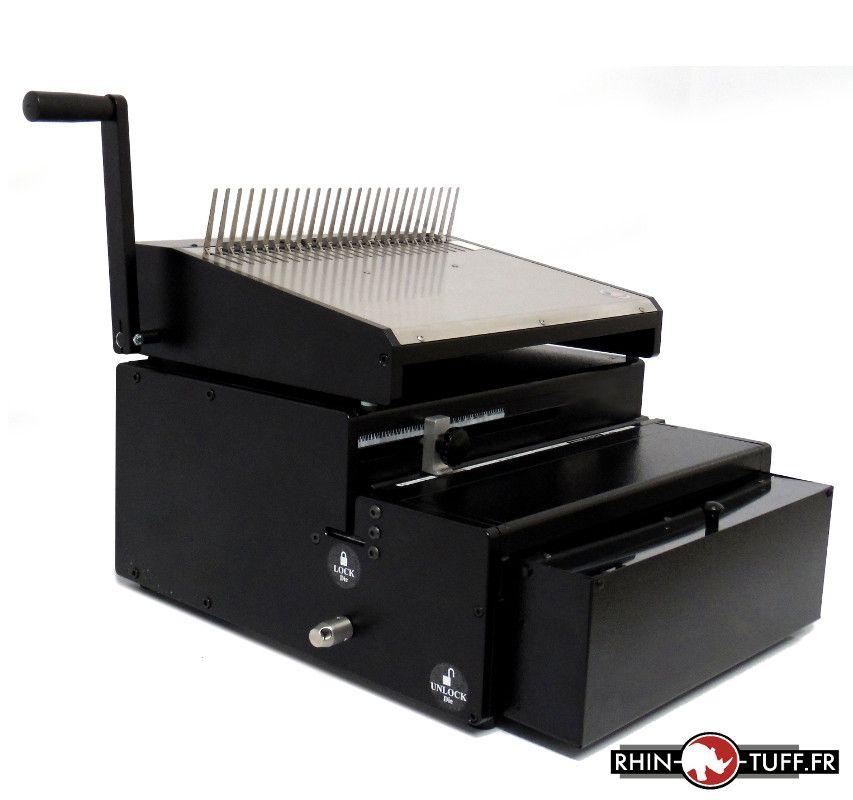 Perforateur électrique Onyx HD7000 et relieuse manuelle Onyx HD4470 pour anneaux plastiques
