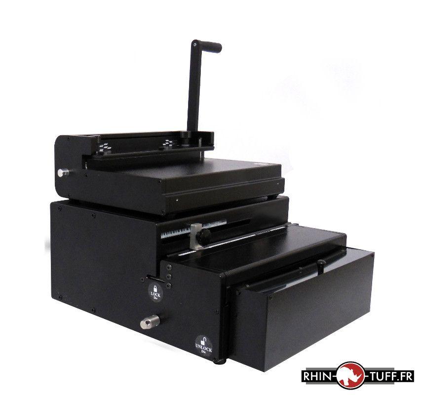 Perforateur électrique Onyx HD7000 avec relieuse manuelle Onyx HD8000 pour anneaux métalliques