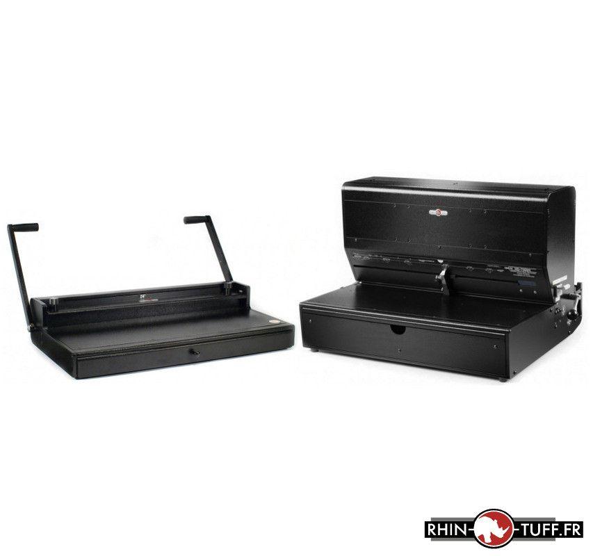 Perforateur électrique Onyx HD7500H avec relieuse manuelle HC8024 anneaux métalliques en format A3