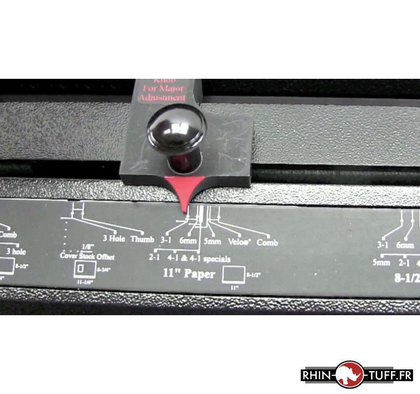 Réglage de la perforation sur le perforateur électrique Onyx HD7700 Ultima
